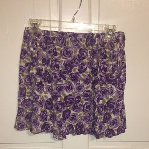 Floral Miniskirt with Pockets